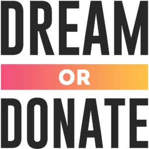 dream or donate logo
